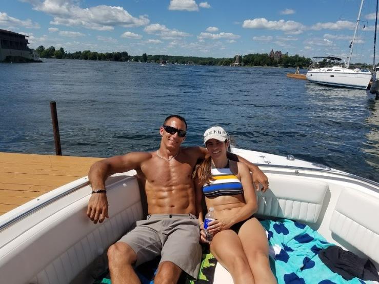 Gina Shawn Relazing boat